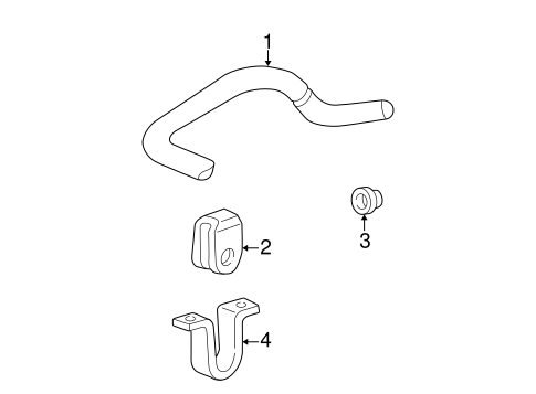 Stabilizer Bar & Components for 1994 Ford E-150 Econoline