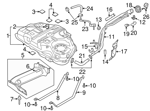 Fuel System Components for 2015 Mazda CX-5