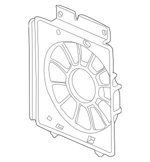 2005-2006 Honda CR-V 5-DOOR Shroud, Air Conditioner (GF30