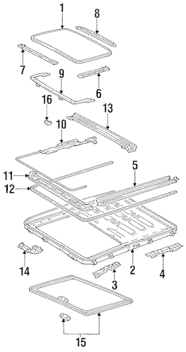 Genuine OEM Sunroof Parts for 1994 Toyota Camry LE