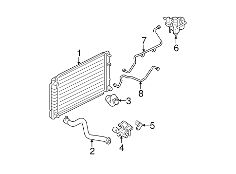 RADIATOR & COMPONENTS for 2005 Ford Escape