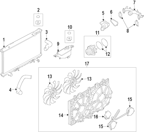 RADIATOR & COMPONENTS for 2012 Nissan 370Z