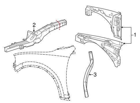 Structural Components & Rails for 2016 Dodge Durango