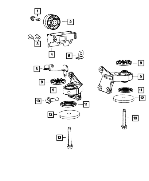 Rear Axle; Housing, Differential and Vent for 2008 Dodge