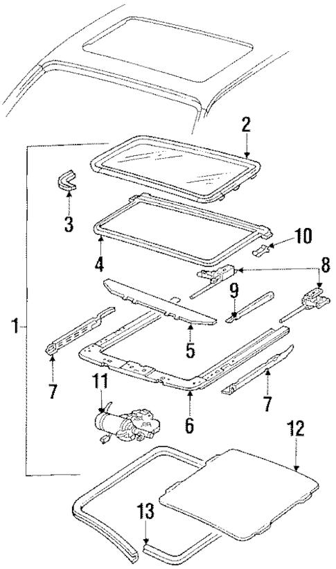 SUNROOF Parts for 1988 Oldsmobile Toronado