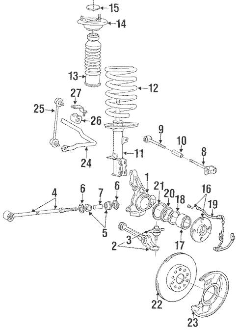 Genuine OEM Rear Suspension Parts for 1991 Toyota MR2
