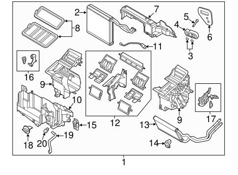 Evaporator & Heater Components for 2014 Mazda CX-5