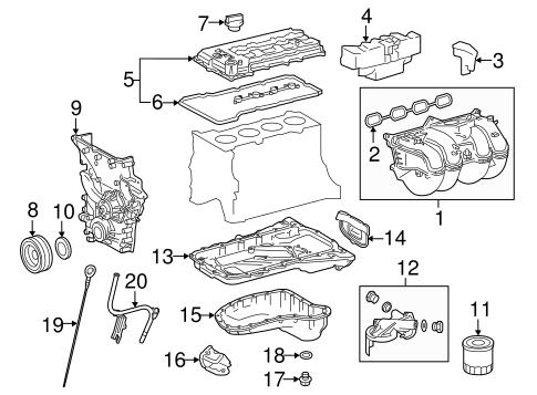 Genuine OEM Engine Parts Parts for 2016 Toyota Tacoma SR5