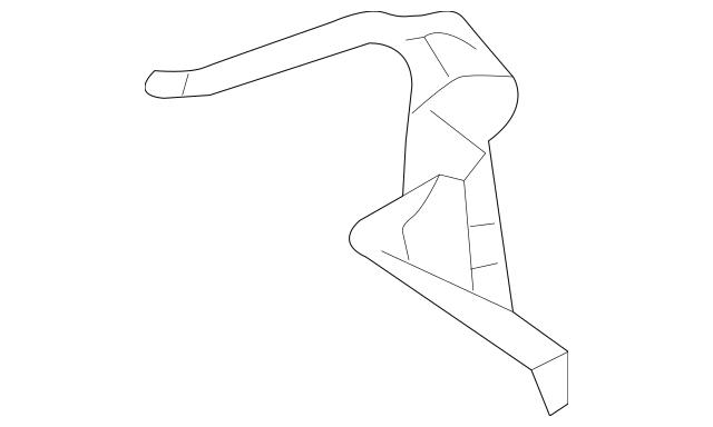 2008-2012 Honda ACCORD SEDAN Gutter, R Rear Pillar 63320