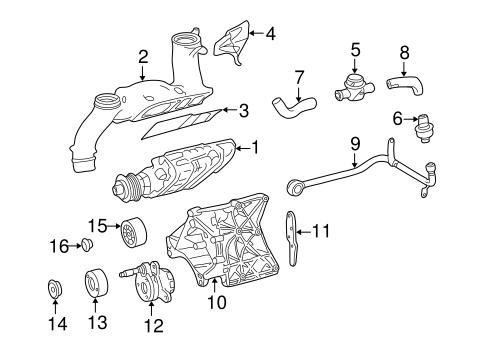 Supercharger & Components for 2004 Mercedes-Benz SLK 230