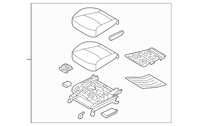 2014-2015 Kia Sorento Cushion Assembly 88105-1U070LAC