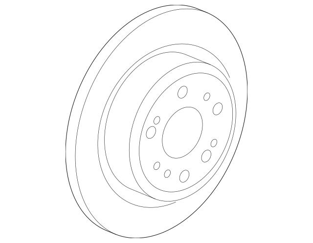 2009-2014 Acura TL SEDAN Disk, Rear Brake Drum In 42510