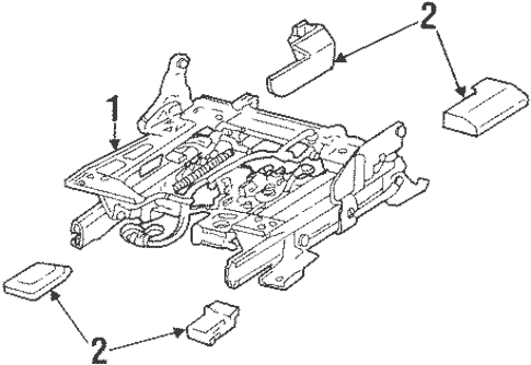 Tracks & Components for 1999 Lincoln Town Car