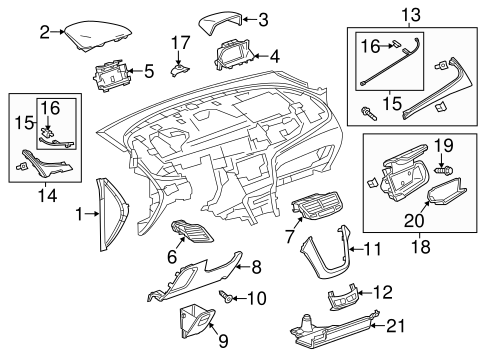 Instrument Panel Components for 2016 Buick Encore