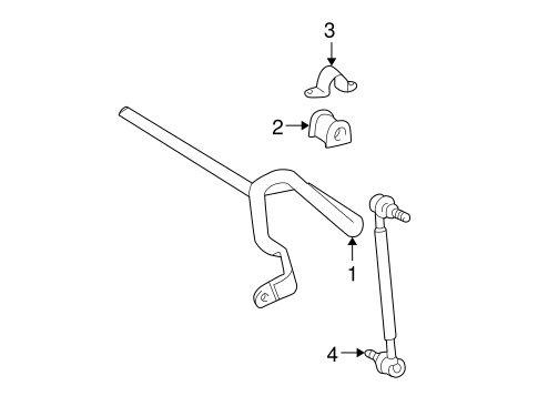 STABILIZER BAR & COMPONENTS for 2005 Toyota Corolla