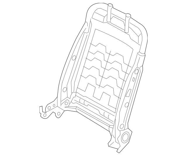 2014-2016 Hyundai Elantra Seat Back Frame 88310-3Y020