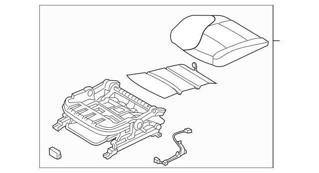 2011-2012 Hyundai Elantra Cushion Assembly 88100-3Y110-PDM