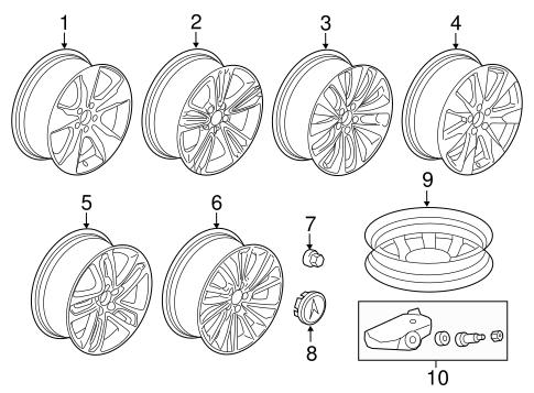 Disk, Aluminum Wheel (19X8J) (TPMS) (Hayes Lemmerz