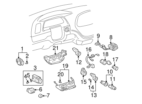 Genuine OEM Cluster & Switches Parts for 2006 Toyota