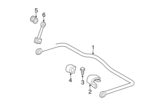 Stabilizer Bar & Components for 2012 Mercedes-Benz