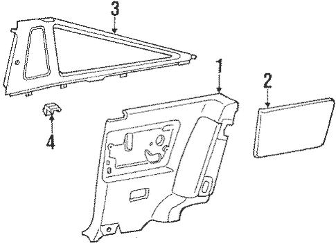 Genuine OEM Interior Trim Parts for 1991 Toyota Supra Base