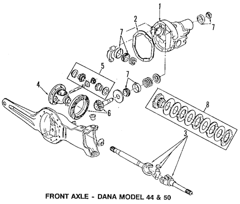 Carrier & Front Axles for 1995 Ford F-350