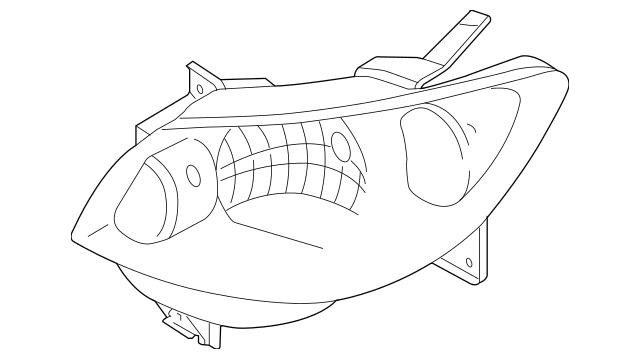 2004-2006 Mazda MPV Composite Headlamp LE46-51-0L0C