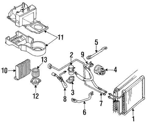OEM 1994 Buick Roadmaster Condenser, Compressor & Lines