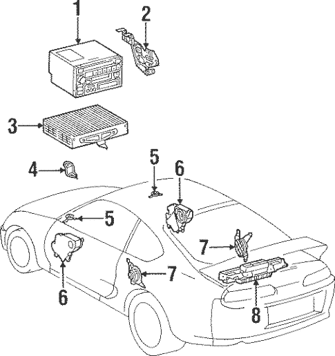 Genuine OEM Sound System Parts for 1994 Toyota Supra Twin