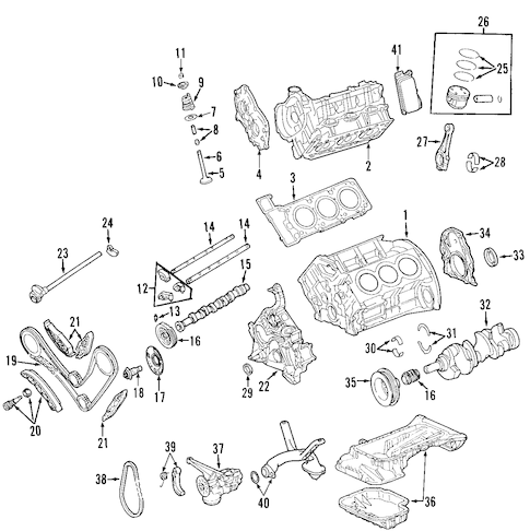 Mercedes CLK350 Crankshaft Position Sensors