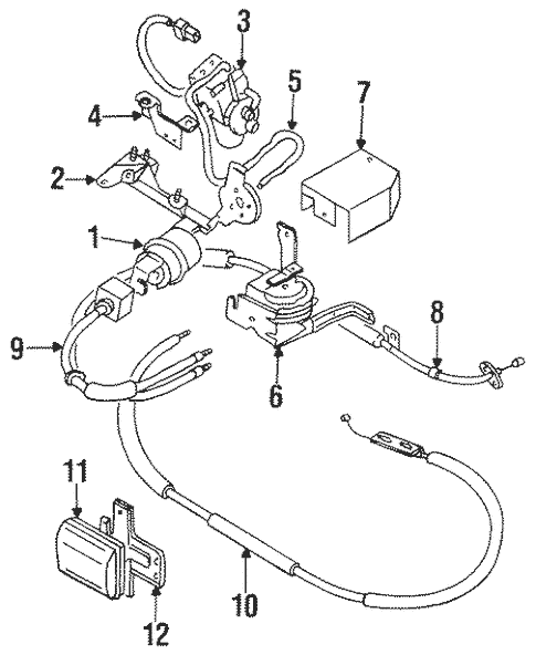 Fuel System Components for 1998 Mitsubishi Galant