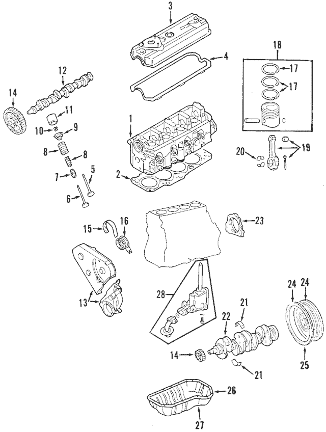 Genuine OEM Camshaft Gear Part# 027-109-111-H Fits 1991