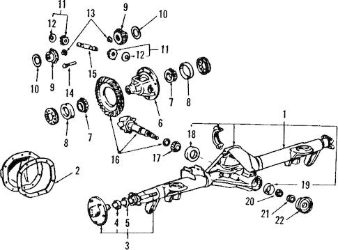 REAR AXLE for 1988 Ford Thunderbird