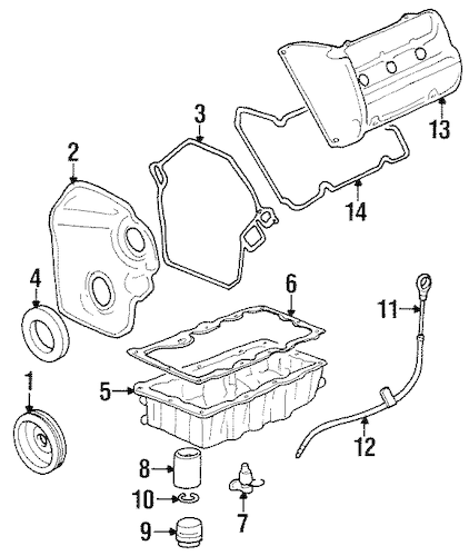 OEM ENGINE PARTS for 2000 Oldsmobile Intrigue