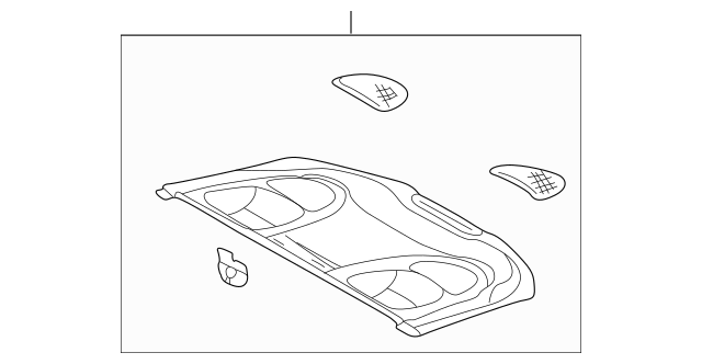 1998-2002 Mercedes-Benz Pkg Tray Trim 208-690-01-49-9B70