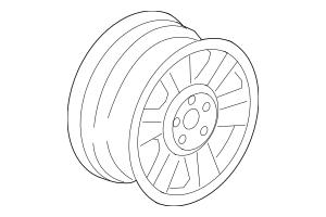 2006-2007 Honda RIDGELINE SEDAN Wheel, Disk 17X7 42700-SJC