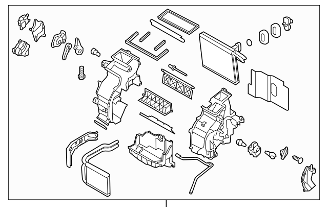 2012-2014 Hyundai Accent AC & Heater Assembly 97205-1R220