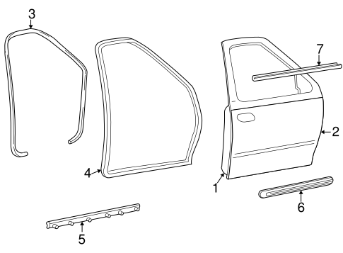 Door & Components for 1999 Ford F-150