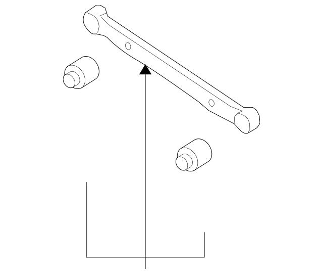 2007-2012 Hyundai Elantra Rear Lateral Arm Left[driver