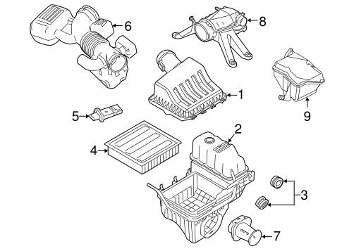 OEM 2010 Ford F-150 Air Intake Parts
