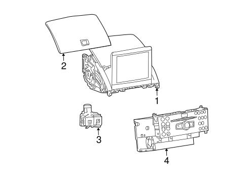 Navigation System Components for 2008 Mercedes-Benz C 300