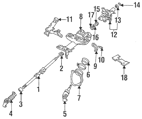 Shaft & Internal Components for 1997 Toyota Celica