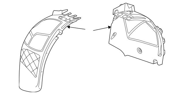 OEM Genuine GM Front Fender Liner Splash Shield LH 11-17