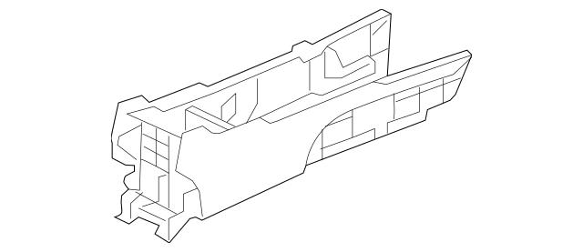 2009-2014 Acura TL SEDAN Box Assembly, Rear Console