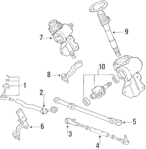 Steering Gear & Linkage for 1987 Mitsubishi Mighty Max