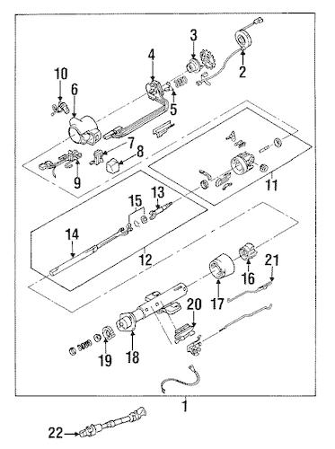 OEM 1994 Chevrolet Corvette Steering Column Assembly Parts
