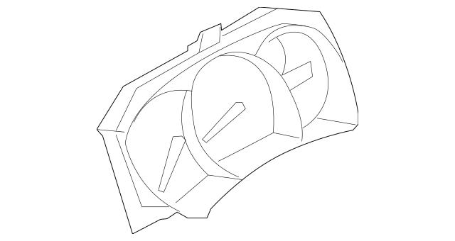 2009 Nissan Murano Instrument Cluster 24820-1AA8B