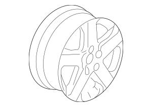 2005-2008 Acura RL SEDAN Disk, Aluminum Wheel (17X8J TPMS