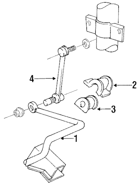 STABILIZER BAR & COMPONENTS for 1993 Ford Taurus