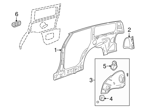 INNER STRUCTURE for 2000 Saturn LW2